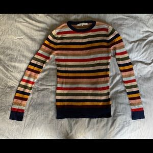 Rainbow stretch sweater